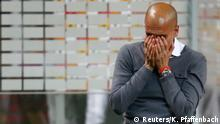 21.5.2016*** Football Soccer - Bayern Munich v Borussia Dortmund - German Cup (DFB Pokal) Final - Olympiastadion, Berlin, Germany - 21/05/16. Bayern Munich's coach Pep Guardiola reacts after winning the German Cup. REUTERS/Kai Pfaffenbach DFB RULES PROHIBIT USE IN MMS SERVICES VIA HANDHELD DEVICES UNTIL TWO HOURS AFTER A MATCH AND ANY USAGE ON INTERNET OR ONLINE MEDIA SIMULATING VIDEO FOOTAGE DURING THE MATCH. © Reuters/K. Pfaffenbach