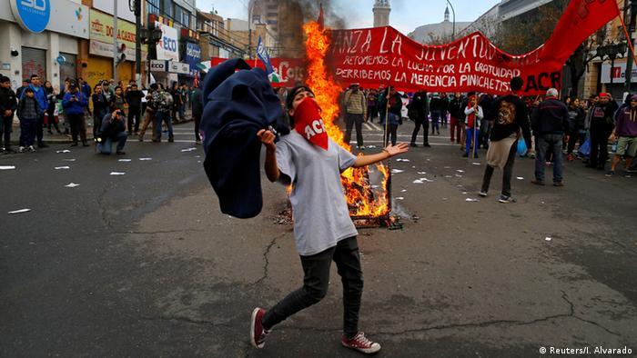 Chile Anti-Regierungsproteste in Valparaiso