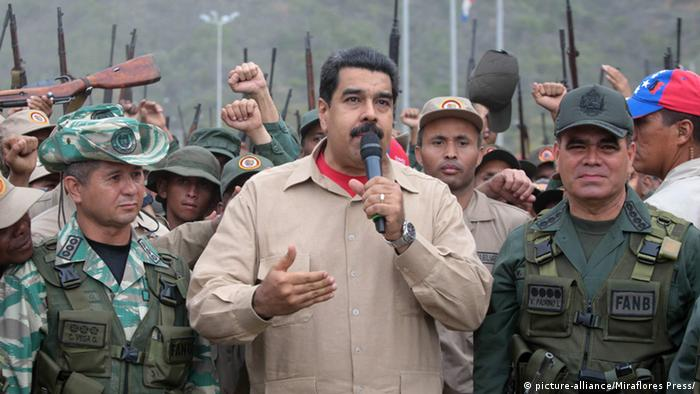 Venezuela Präsident Nicolas Maduro (picture-alliance/Miraflores Press/)