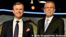 Österreich Norbert Hofer und Alexander Van der Bellen TV-Duell in Wien