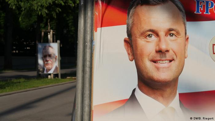 Österreich Wahlen Plakat in Wien