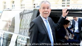 O υποψήφιος των Πρασίνων Αλεξάντερ Βαν Ντερ Μπέλεν