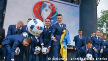 Ukraine Kiew Verabschiedung Nationalmannschaft Euro 2016