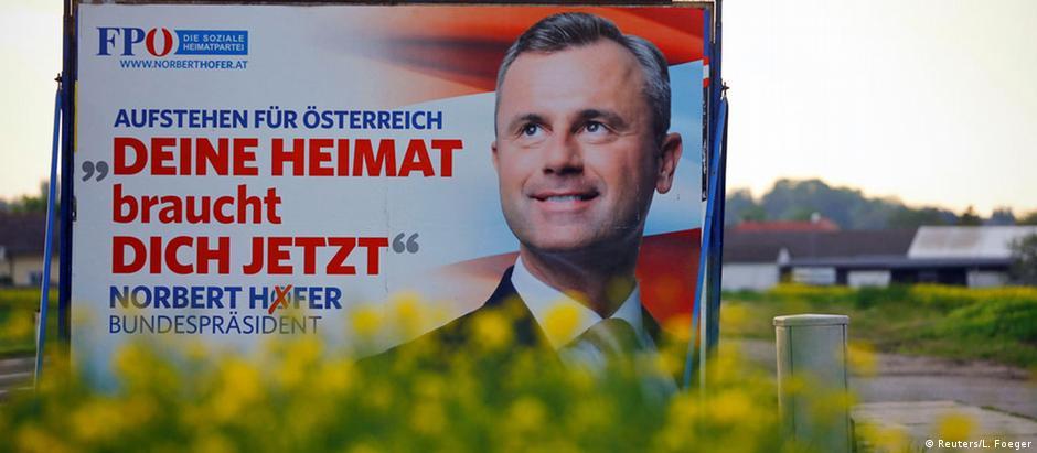 """Cartaz de campanha de Norbert Hofer: """"Seu país precisa de você agora"""""""