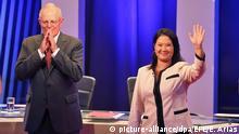 Peru Piura Präsidentschaftswahl Pedro Pablo Kuczynski (L) and Keiko Fujimori (R)