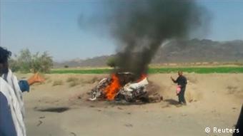 خودروی ملامنصور که پهپاد آمریکایی آن را هدف قرار داد