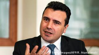 Mazedonien Anti-Regierungsproteste Zoran Zaev Oppositionsführer Statement (Getty Images/AFP/R. Atanasovski)