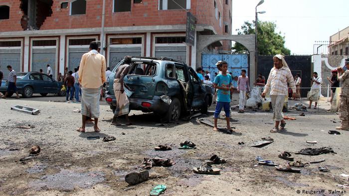 Jemen Anschlag in Aden (Reuters/F. Salman)
