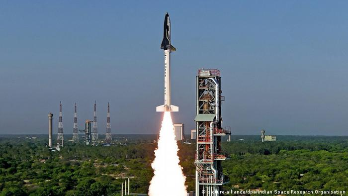 Indien Sriharikota Raketenstart Reusable Launch Vehicle