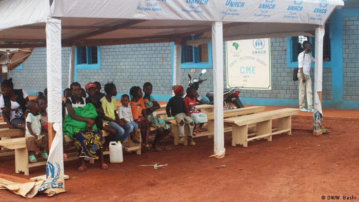 Flüchtlingskinder aus der Zentralafrikanischen Republik in einer Schule in Zongo, DR Kongo