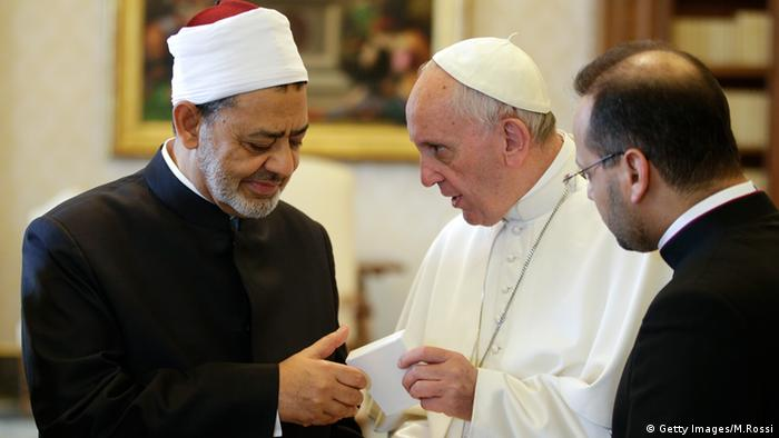 Papst Franziskus Imam Ahmed Mohamed al-Tayeb Vatikan Audienz (Getty Images/M.Rossi)