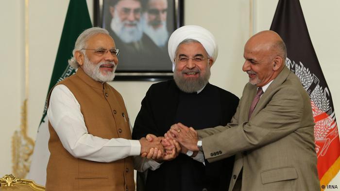 Iran Rohani, Modi und Ghani in Teheran (IRNA)