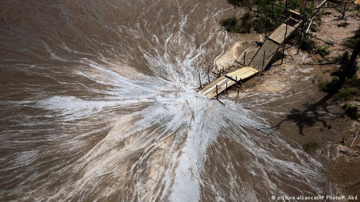 Peru Goldmine in der Region Madre de Dios