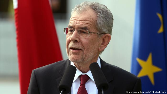 The new Austrian president, Alexander Van der Bellen