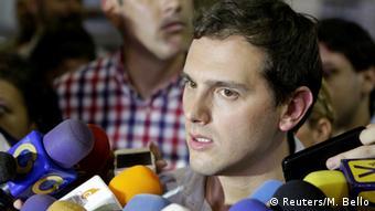 El líder del partido español Ciudadanos, Albert Rivera.