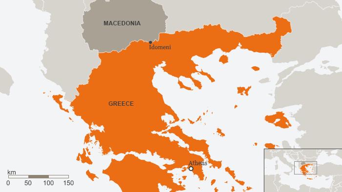 Karte Griechenland Idomeni Englisch