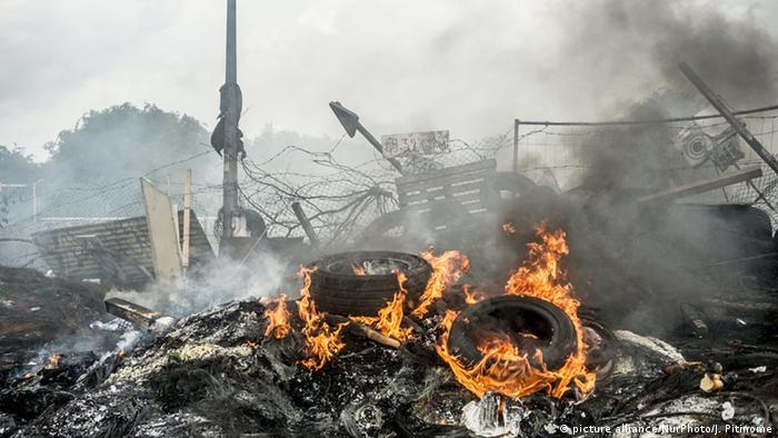 Frankreich Blockade in Douchy les Mines