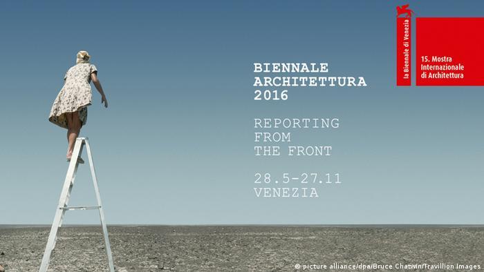 Plakat der Architekturbiennale Venedig 2016