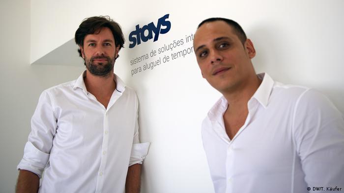 Till Pupak (esq.) e Sven dos Santos, da firma Stays