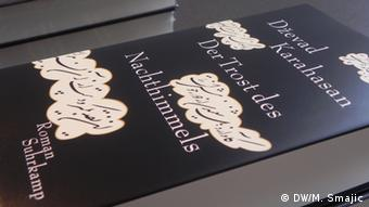 Schriftsteller Dževad Karahasan Buchcover der Trost des Nachthimmels (DW/M. Smajic)