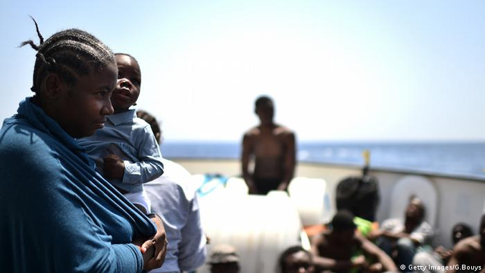 Migranten Flüchtlinge Libyen Küste Rettung Aquarius Mittelmeer
