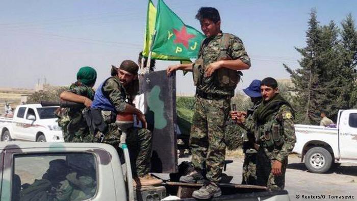 Syrien Krieg YPG kurdische Kämpfer der People's Protection Units