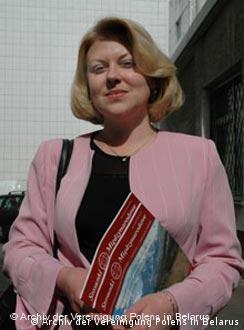 Angelika Borys, Vorsitzende des Polen-Verbandes in Belarus