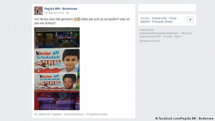 Screenshot Facebook Pegida BW - Bodensee