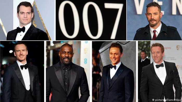 James Bond Kandidaten für neuen Film, Henry Cavill, Tom Hardy, Michael Fassbender, Idris Elba, Tom Hiddleston und Damian Lewis, Bildcombi, Foto: dpa