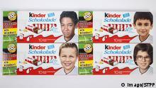 Kinderschokolade Fussball Profis als Kinder als Motive