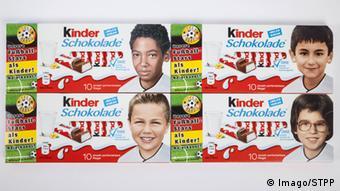 Kinderschokolade: Kinderbilder von Fussball Profis