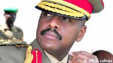 25.05.2016 Erster Sohn des Präsidentin Ugandas - Muhozi Kaineruga wurde heute zum Major General ernannt. Copyright: DW/E. Lubega