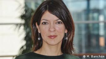 Belgien Brüssel Erika González Ramírez Grupo Sur über Bekämpfung von Gewalt gegen Frauen