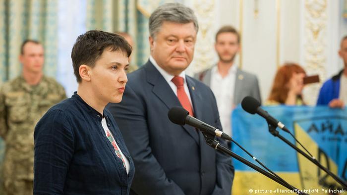 Совместная пресс-конференция Надежды Савченко и Петра Порошенко