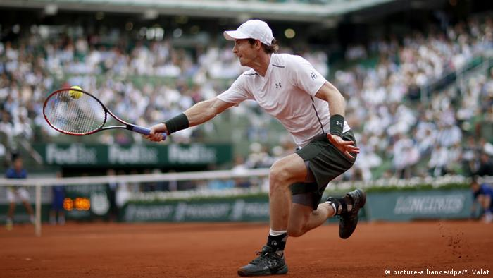Andy Murray bei den French Open (Foto: picture-alliance/dpa/Y. Valat)