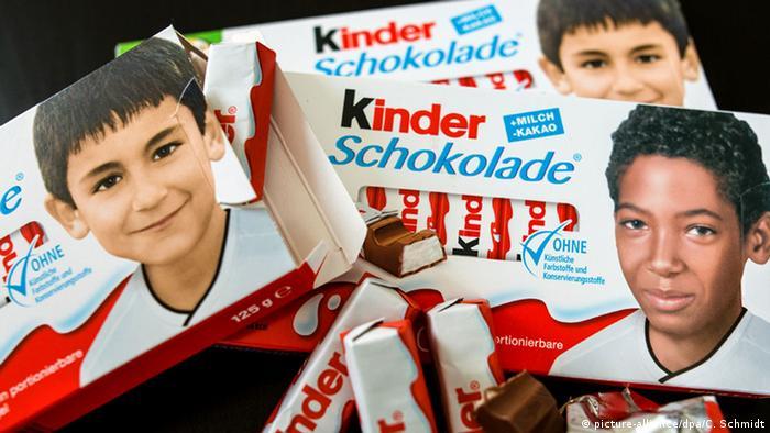 Fußball-Nationalspieler Kinderschokolade