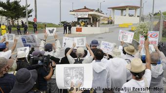 Japan G7 Gipfel Proteste in Okinawa
