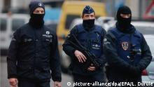 Beglien Polizei bei einem anti-Terror-Einsatz in Brüssel