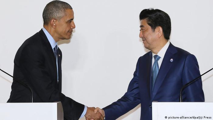 US-Präsident Obama wird von Regierungschef Abe empfangen (Foto: dpa)