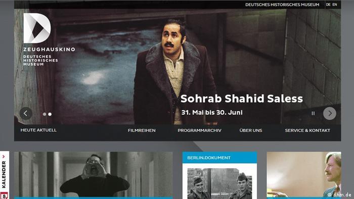 Screenshot Webseite Deutsches Historisches Museum