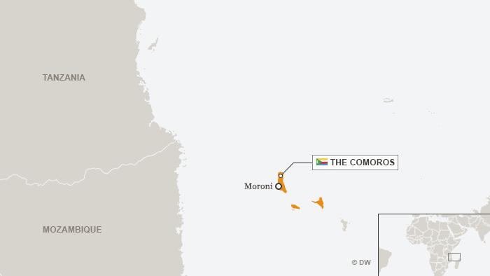 Karte Komoren englisch