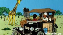 ARCHIV - Ein Exemplar von «Tim und Struppi», «Tintin au Congo» (Archivfoto vom 07.08.2007). Der 1931 entstandene Comic «Tim und Struppi im Kongo» wird in Belgien nicht wegen Rassismus verboten. Ein Gericht in Brüssel wies am Freitag (10.02.2012) eine entsprechende Klage des kongolesischen Studenten Bienvenu Mbutu Mondondo ab. Das Buch des Belgiers Hergé (Georges Remi) über die Abenteuer des jugendlichen Reporters Tim in der damaligen belgischen Kolonie seien nicht als Verstoß gegen heutige Gesetze zu werten. Foto: SEBASTIEN PIRLET (zu dpa «Tim und Struppi im Kongo» bleiben erlaubt vom 10.02.2012) +++(c) dpa - Bildfunk+++