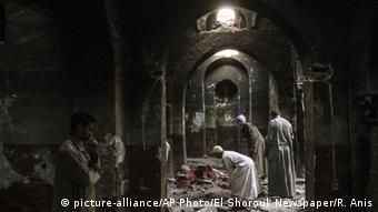 Ägypten Koptische Christen zerstörte Kirche