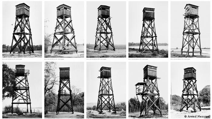 Tipos de torres de vigilância ao longo do Muro de Berlim