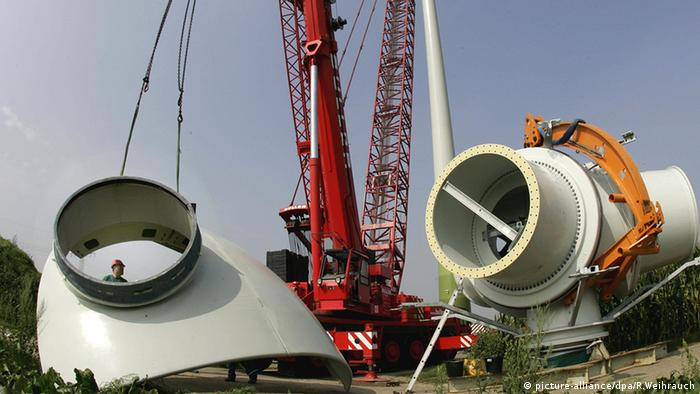 Wind turbine components from equipment maker Enercon
