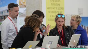 The curators of the German Pavilion in Venice, Copyright: DW/S. Dege