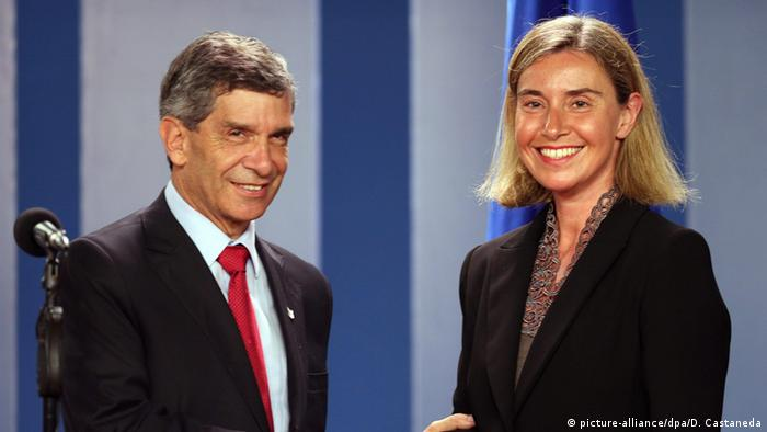 EU Kolumbien Federica Mogherini und Rafael Pardo
