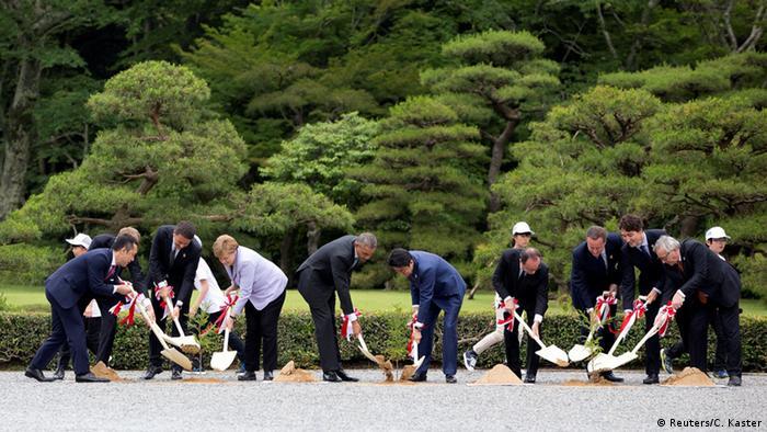 Japan G7 Gipfel Baum pflanzen