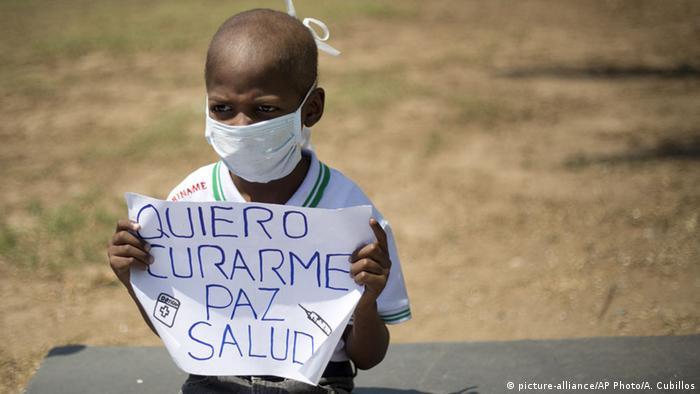 Venezuela Caracas Protest gegen Einsparungen Gesundheitsversorgung