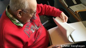 man reading  copyright: Peter Geoghegan